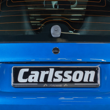 Carlsson emblem trunk door
