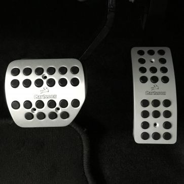 Aluminum pedal covers smart coupé/cabrio/ED/EQ 453